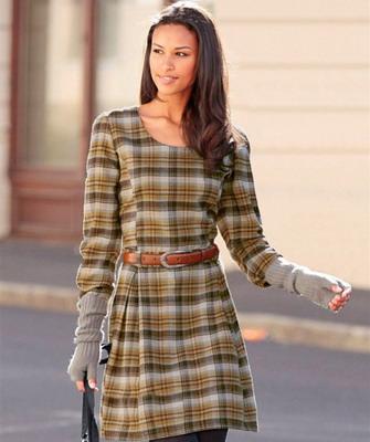 Фасоны платья из шотландки