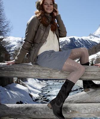 Бежевые зимние сапоги на шнуровке