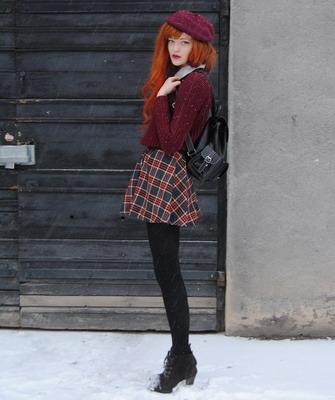 Зимние образы с юбками