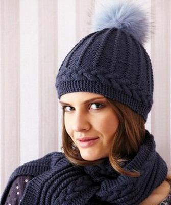 Вязание стильное шапок спицами