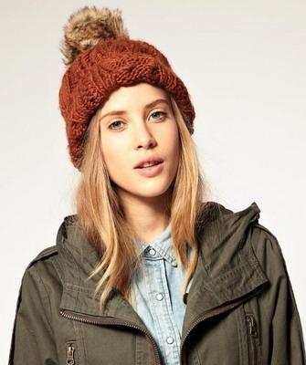 стильные вязаные шапки для женщин на 2019 год выполняются спицами и