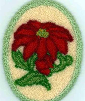 Схемы ковровой вышивки цветка