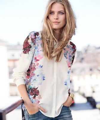 Модные рубашки с принтом женские