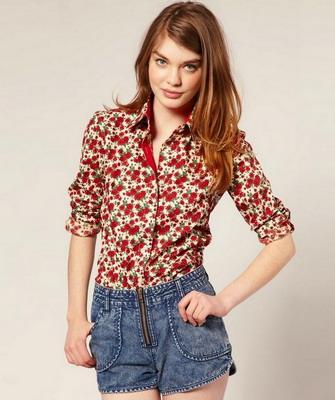 3b9edfbb3e7 Рубашки женские 2019  в клетку и джинсовые - на фото модные модели ...