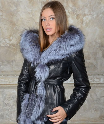 стильные кожаные куртки женские с мехом - mimege.ru