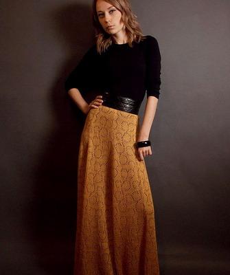 фото длинных юбок осень: