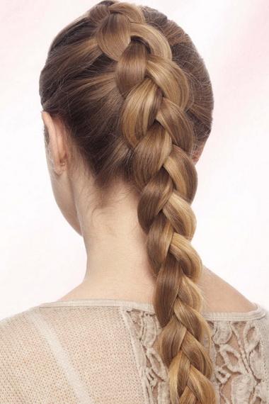 Как заплести французская коса наоборот схема