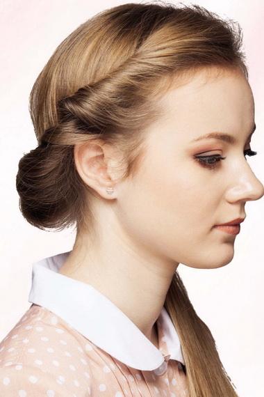 Причёска из жгутов
