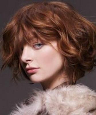 стрижка на вьющиеся волосы фото