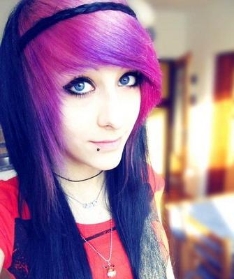 эмочки с розовыми волосами