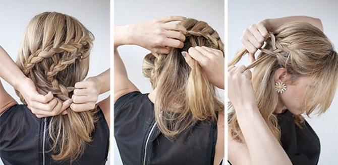 Плетение кос на длинные волосы (30 фото). Пошаговая 95