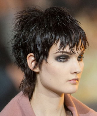 стрижка гаврош женская на средние волосы фото