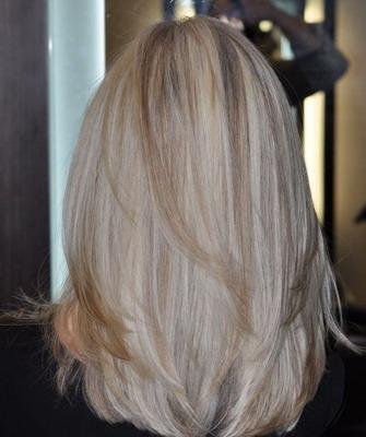 Блондинка сзади волосы фото