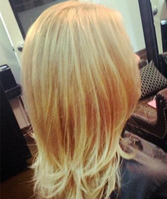 Стрижка лесенка на концах волос