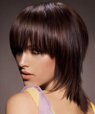 Прически на короткую длину волос с челкой