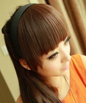 Накладные челки из натуральных волос