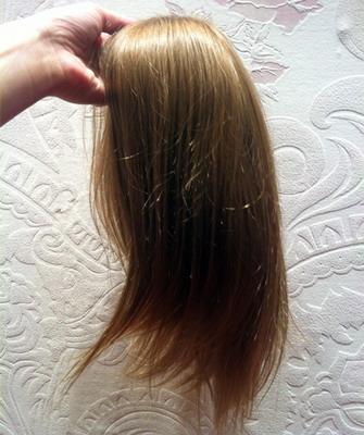 Накладки из волос на макушку