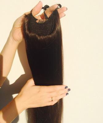 Шиньоны-хвосты из натуральных волос