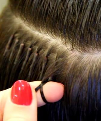 Наращивания волос по концам