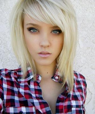 Блондинки с челкой и длинными волосами