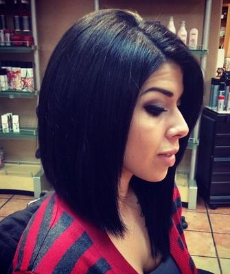 Фото прически каре на черные волосы