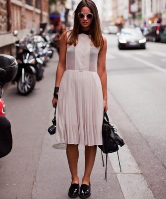 Лоферы женские фото с платьем