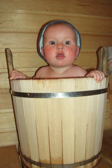 Родители и дети в бани голышом фото