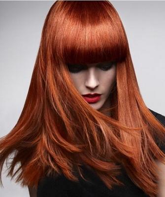 Модный цвет волос-рыжий
