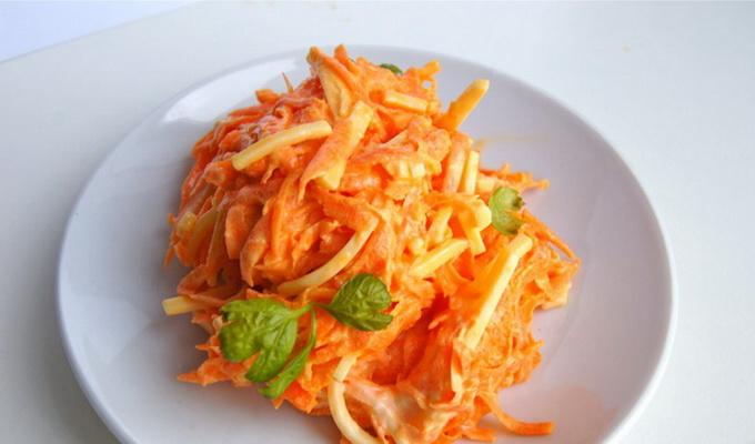Салат из моркови с чесноком фото рецепт