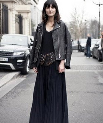 Что носить зимой с длинным платьем