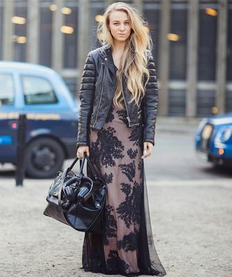 Верхняя одежда с платьем в пол