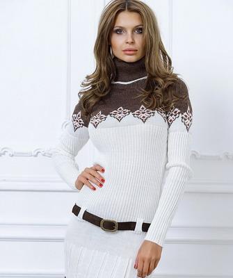 Что одеть с белым вязаным платьем