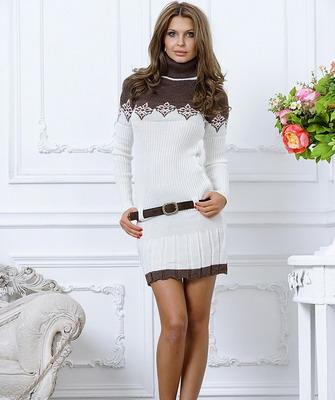 Платье молочное с чем носить