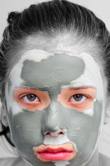 Маски из голубой и черной глины для лечения кожи лица