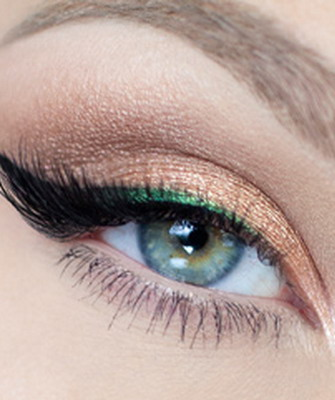 Вечерний макияж для голубоглазых