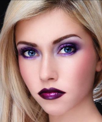 Вечерний макияж для глаз для блондинок пошаговое