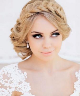 с плетением фото прически свадебные