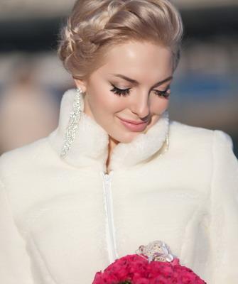 Свадебные прически короткие волосы косы