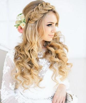 Причёски с косами на длинные волосы свадебные