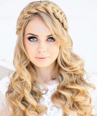 фото причёсок с косами на средние волосы