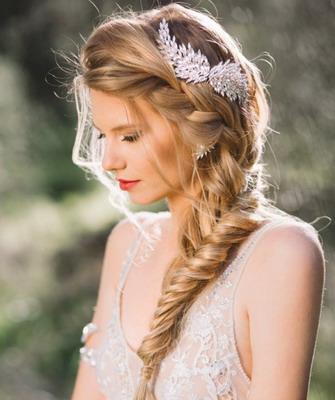 Свадебная прическа. коса