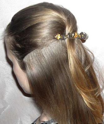 Прическа из прямых длинных волос своими руками