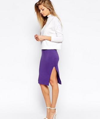 Яркая трикотажная юбка