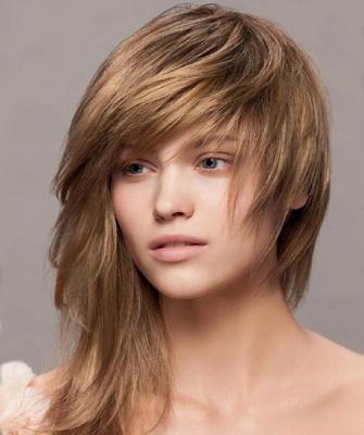 Стрижка на длинные волосы с короткой макушкой