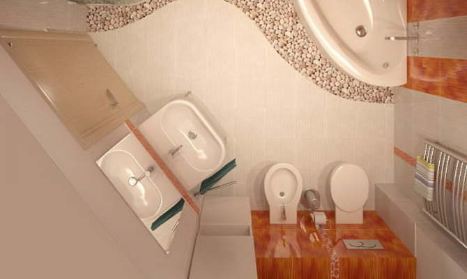 Идеи для ванной комнаты совмещенной с туалетом