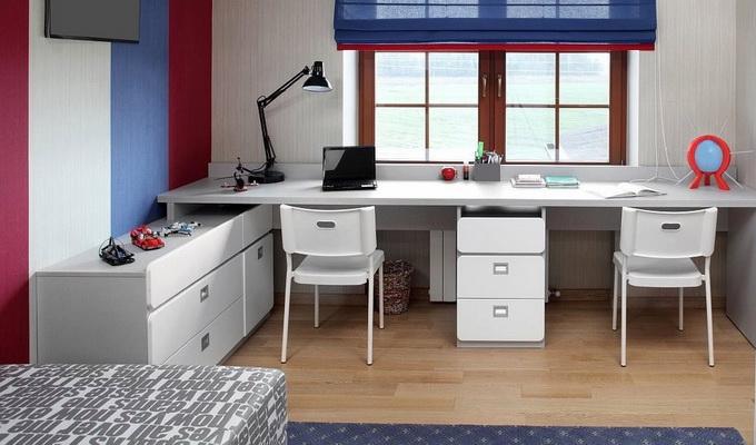 письменный стол на два рабочих места для детей фото и варианты