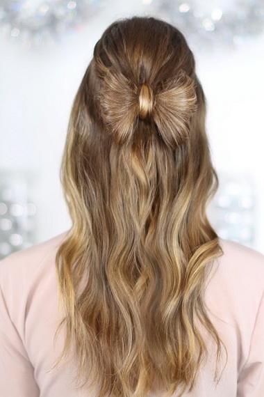 Как сделать бант из волос на длинные, короткие волосы? Прическа бантик из волос с распущенными волосами, с кудрями, с хвостом