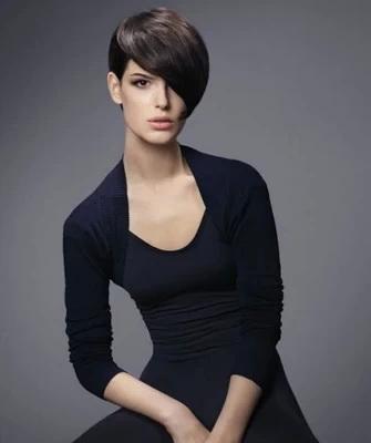 Стрижки-2020 с косой челкой на короткие, средние, длинные волосы (с фото) || Косая челка с углом